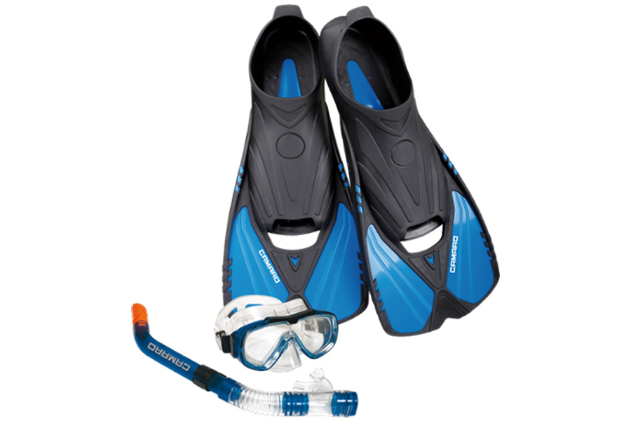 Camaro Travelset Complete Snorkel, Mask, and Fin Set