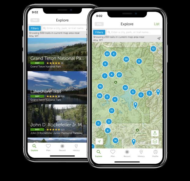 AllTrails OS App