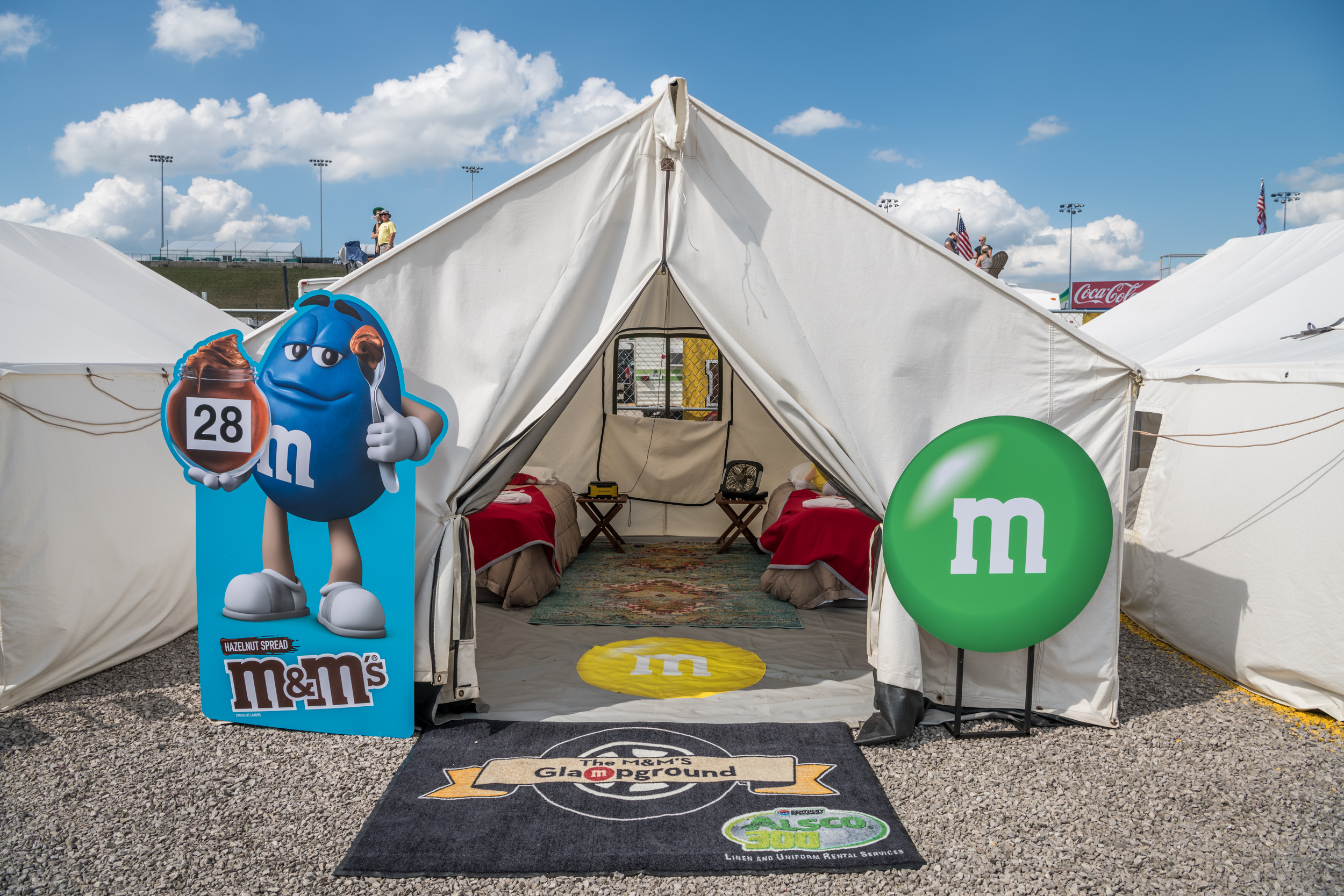 I Glamped in a NASCAR Infield Thanks to M&M's