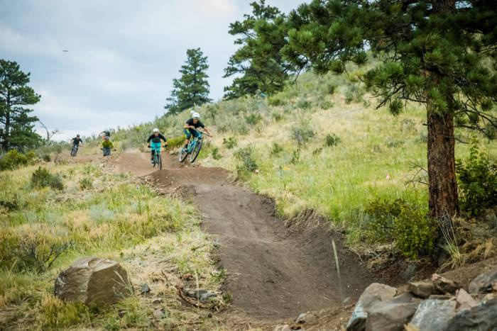 The Sluice mountain bike trail Floyd Hill
