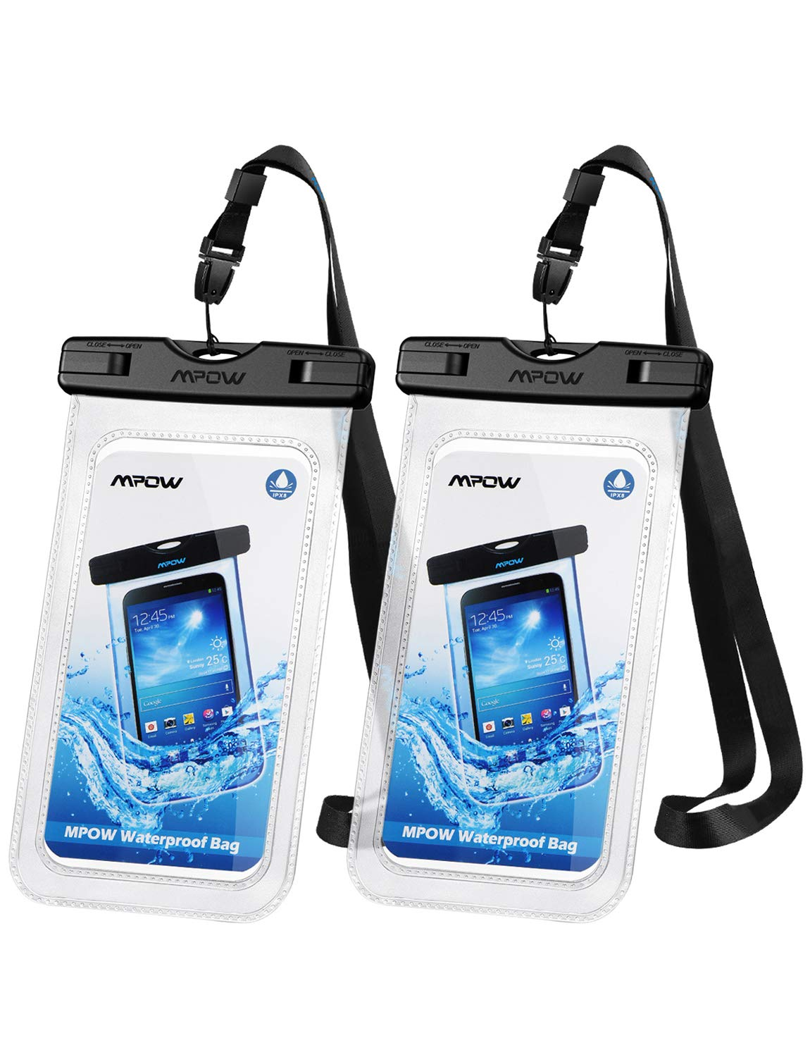 Mpow Waterproof Phone Pouch Dry (2-pack)