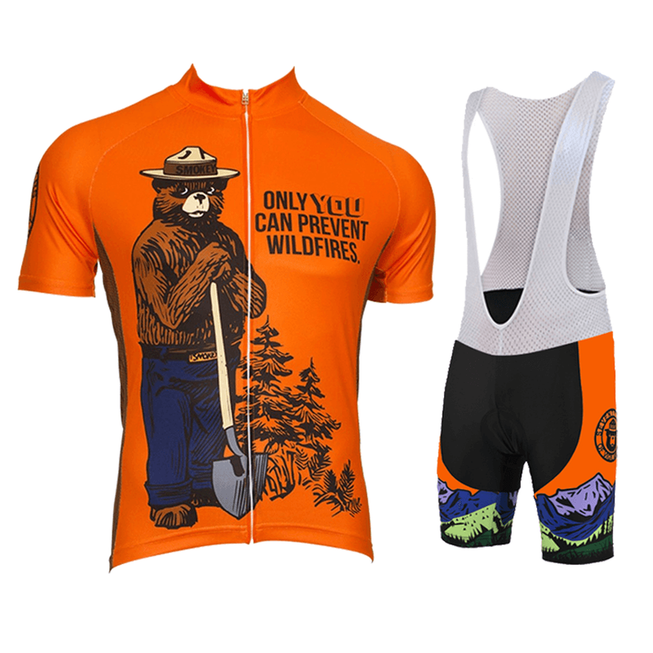 Retro Smokey Bear Prevent Wildfires Cycling Kit