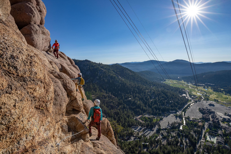 Squaw Valley Tahoe via ferrata
