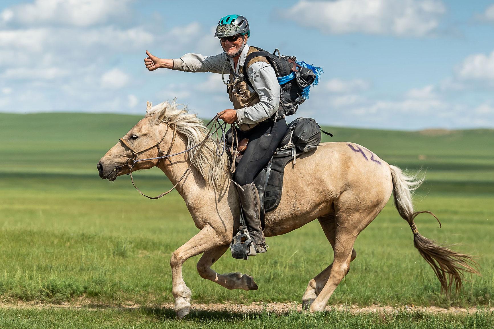 Bob Long wins Mongol Derby