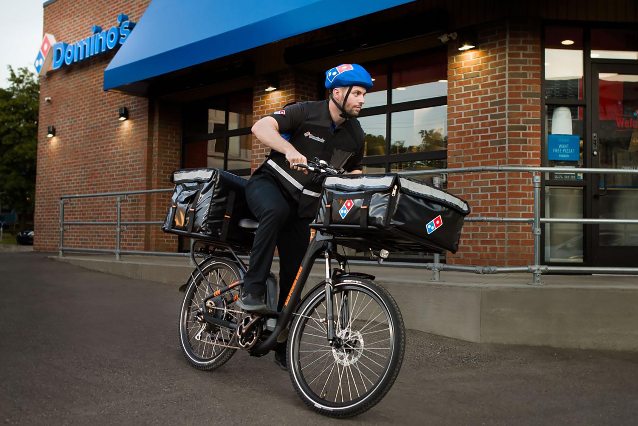 Domino's Pizza bike delivery