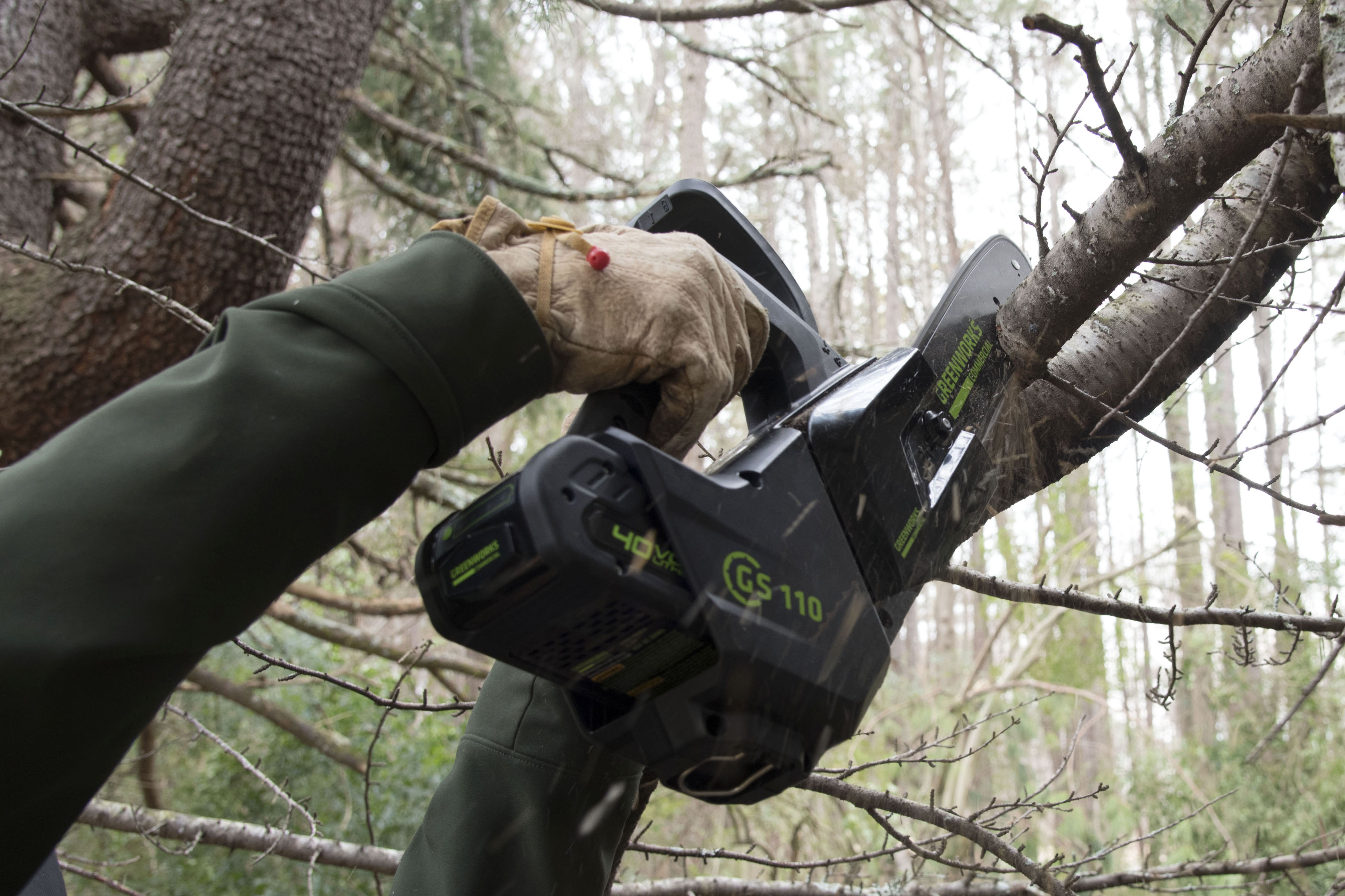 "Greenworks Commercial Brushless 10"" Arborist Chainsaw"
