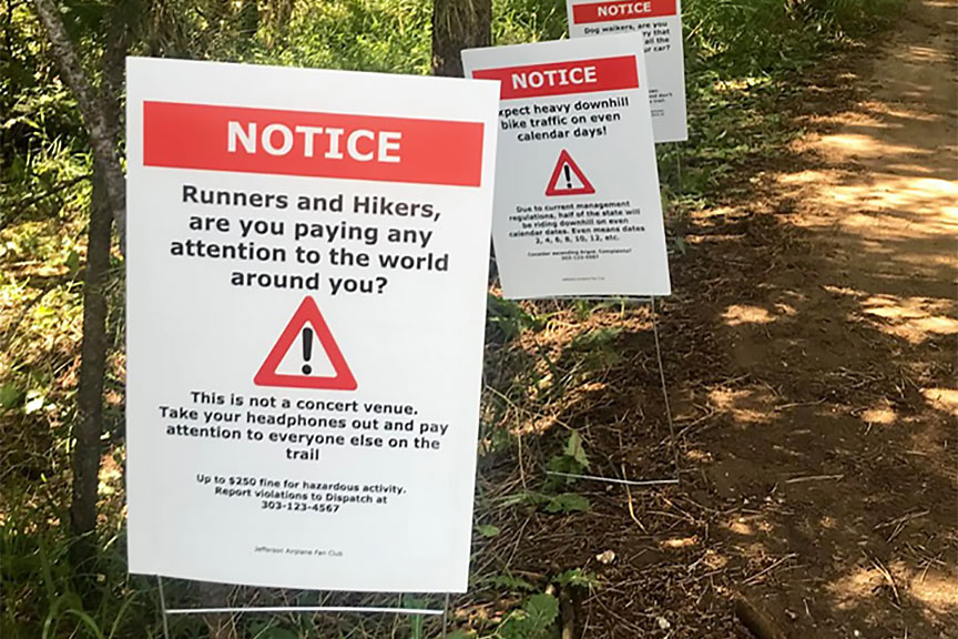 Jeffco Open Space trail signs