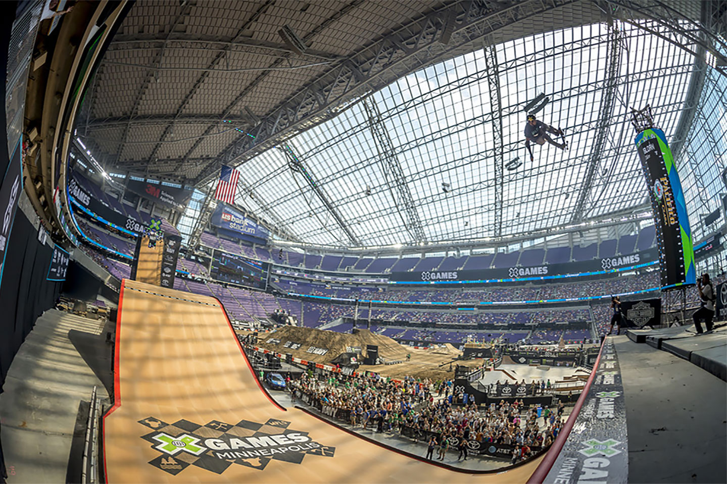 X Games Minneapolis skateboard half pipe