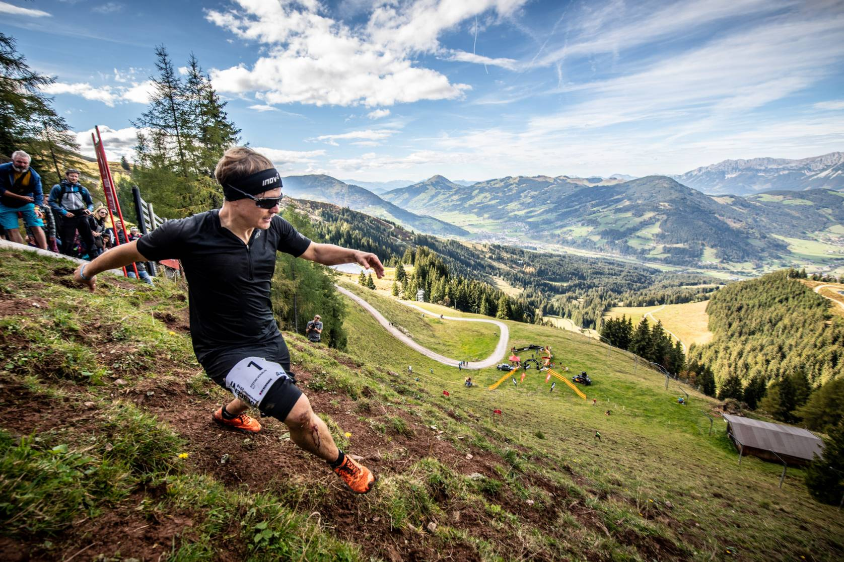 Running downhill course Kitzbühel