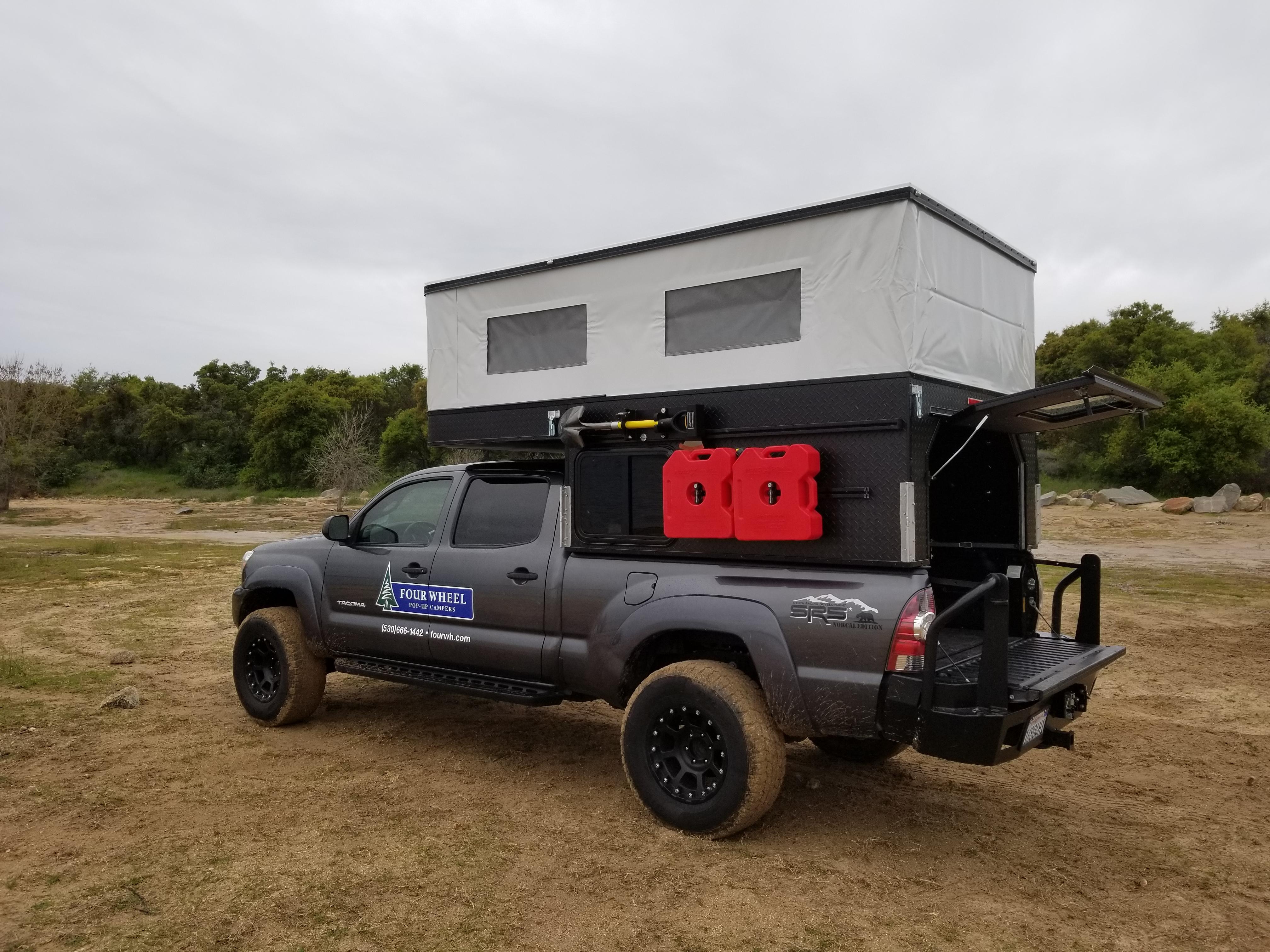 Four Wheel Campers Reveals Lightweight Pop Top Truck Camper Gearjunkie