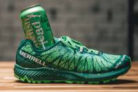 Merrell and Dogfish Head beer collaboration sneakers in bright sea foam green color