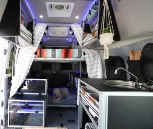 VanDOIt Adventure Van interior