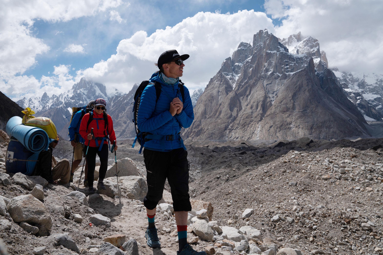 Adrian Ballinger hiking K2