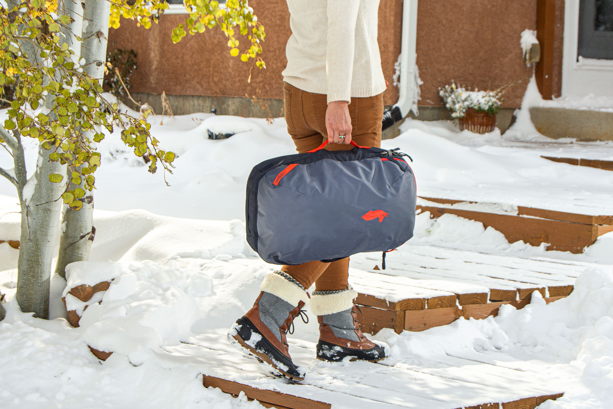 Mallory Paige Testing the Cotopaxi Allpa Travel Backpack