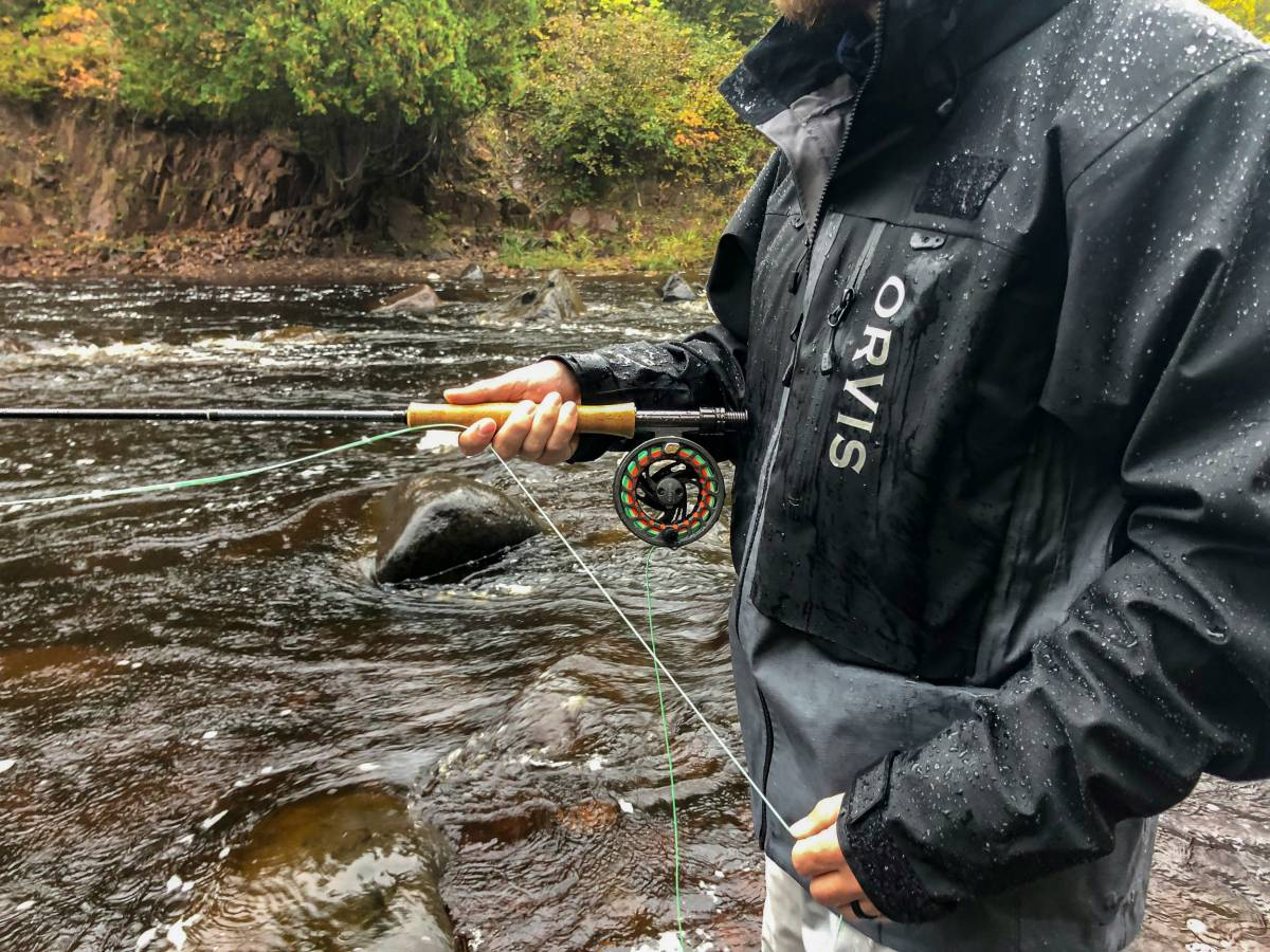 Fly Fishing Orvis Clearwater Rod and Reel Pro Wading Jacket