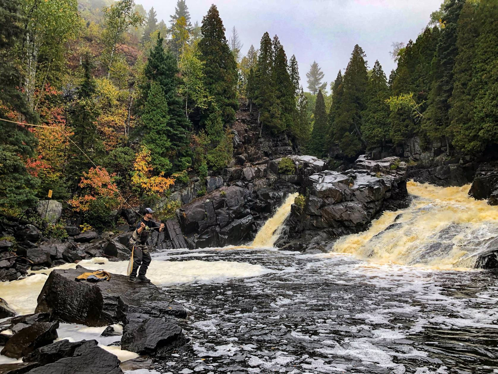Fly Fishing Waterfall Fall Colors
