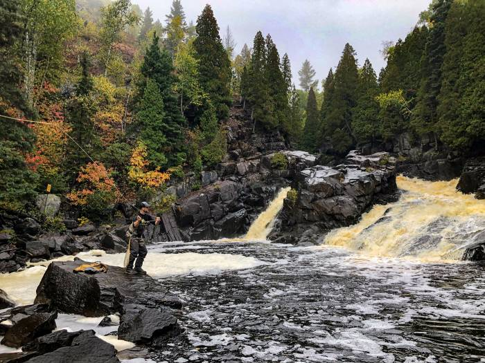 Trip Report: Fly Fishing for Pink Salmon Along MN's North Shore | GearJunkie