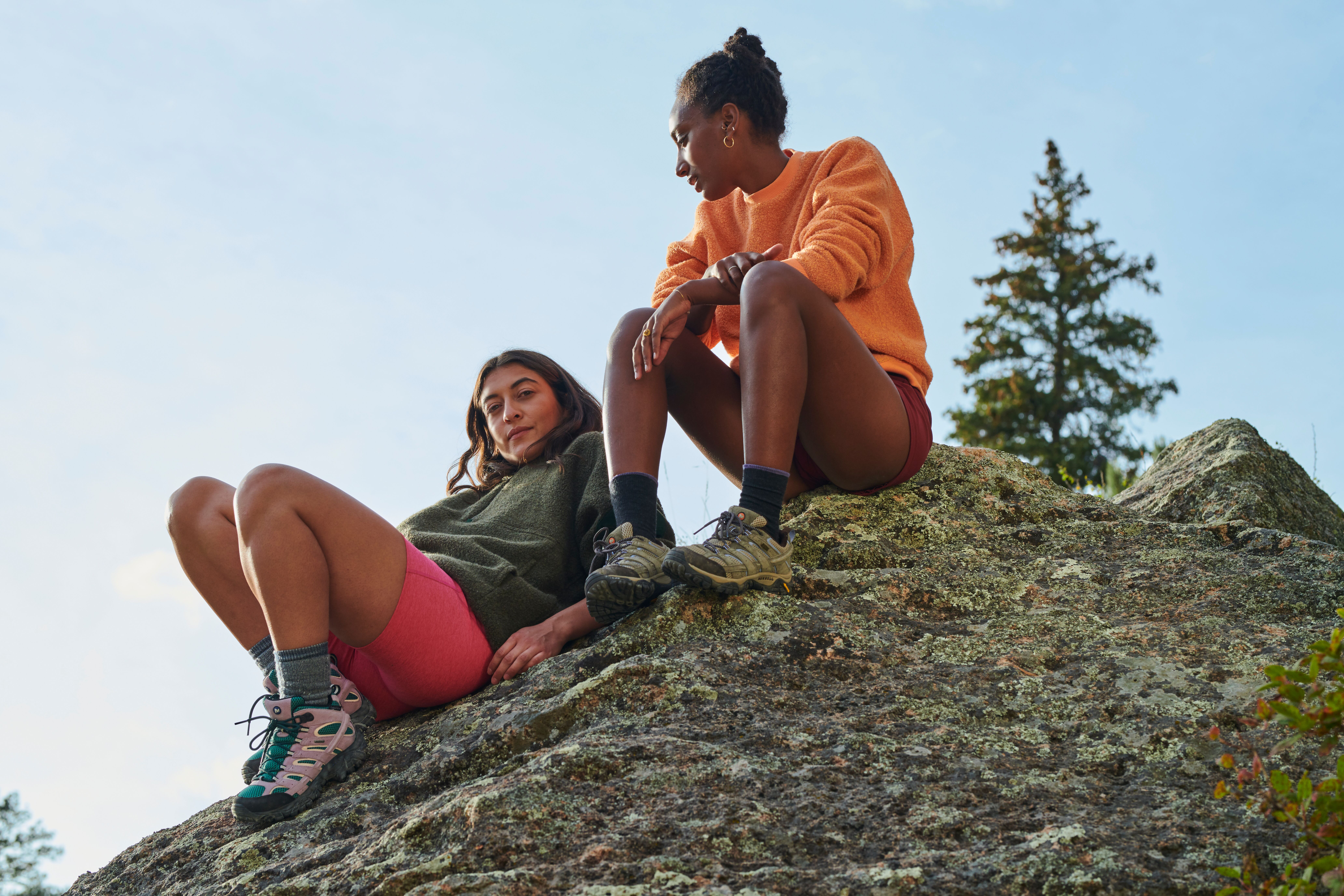 Outdoor Voices and Merrell hiking