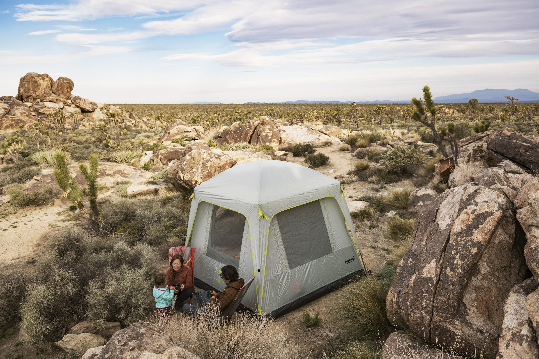 Tent Camping Desert Family Backcountry
