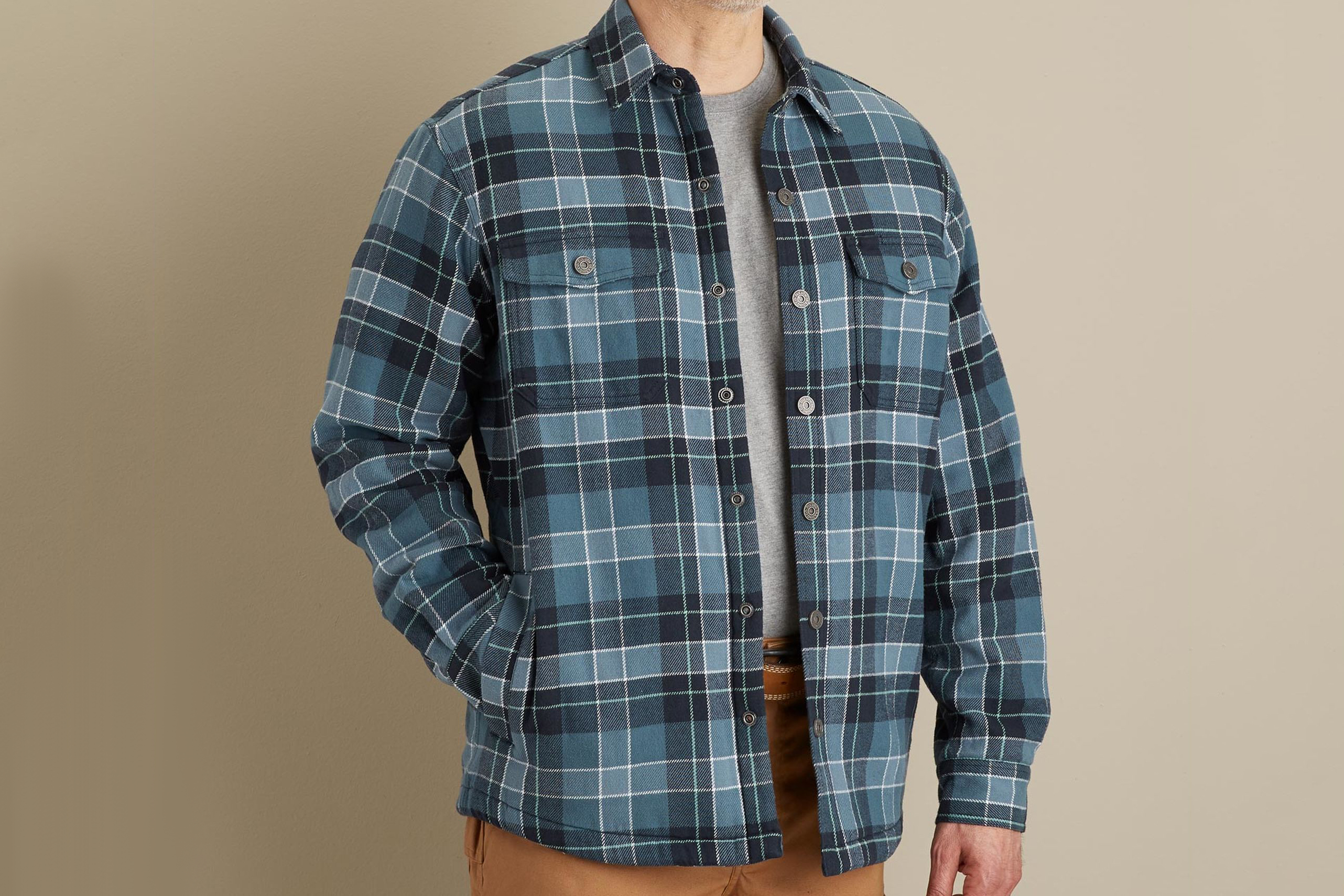 Duluth Trading Co. Flapjack Fleece-Lined Shirt Jac