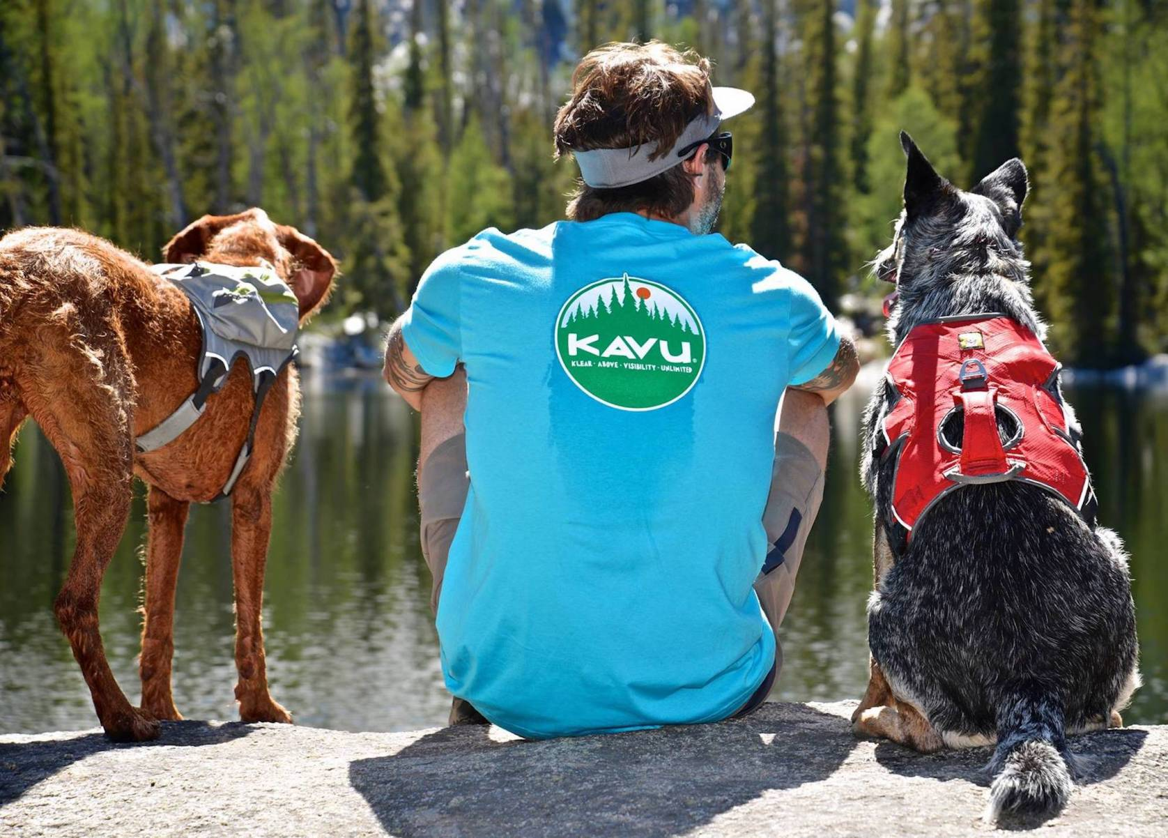 KAVU brand with dogs