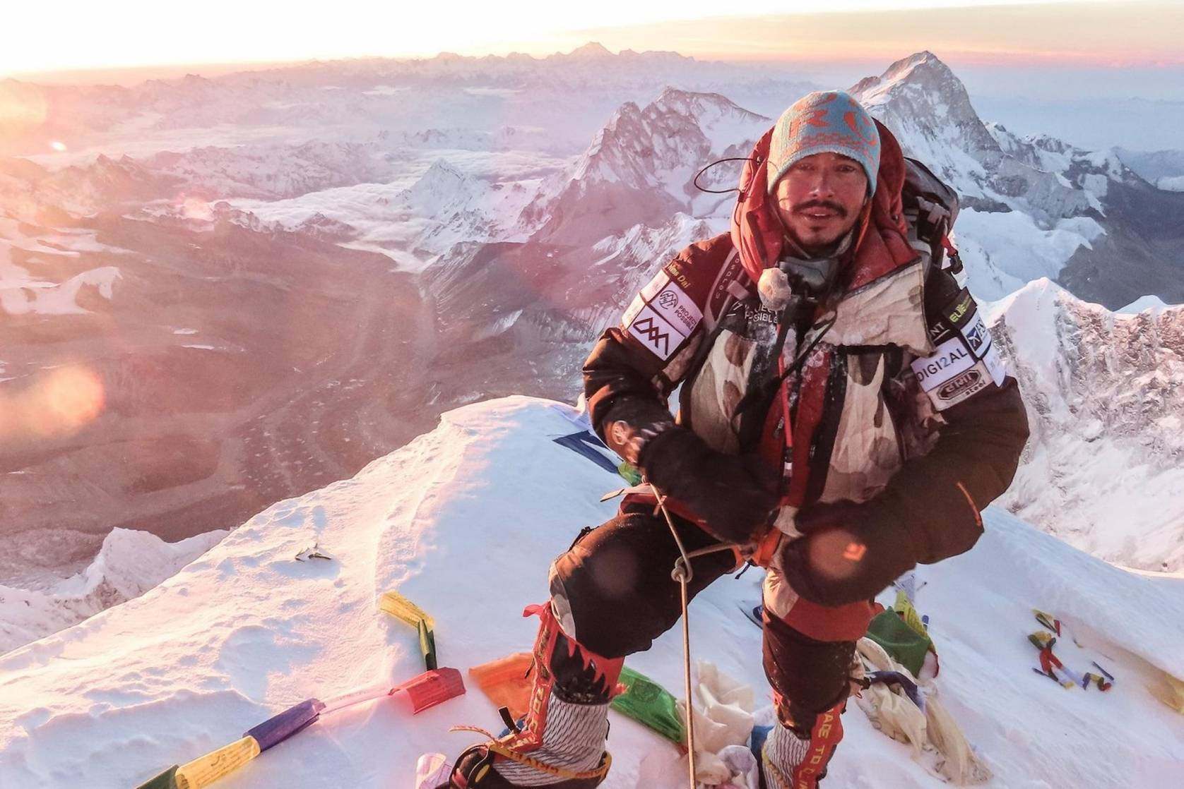 Nims Purja climbing Everest for Project Possible