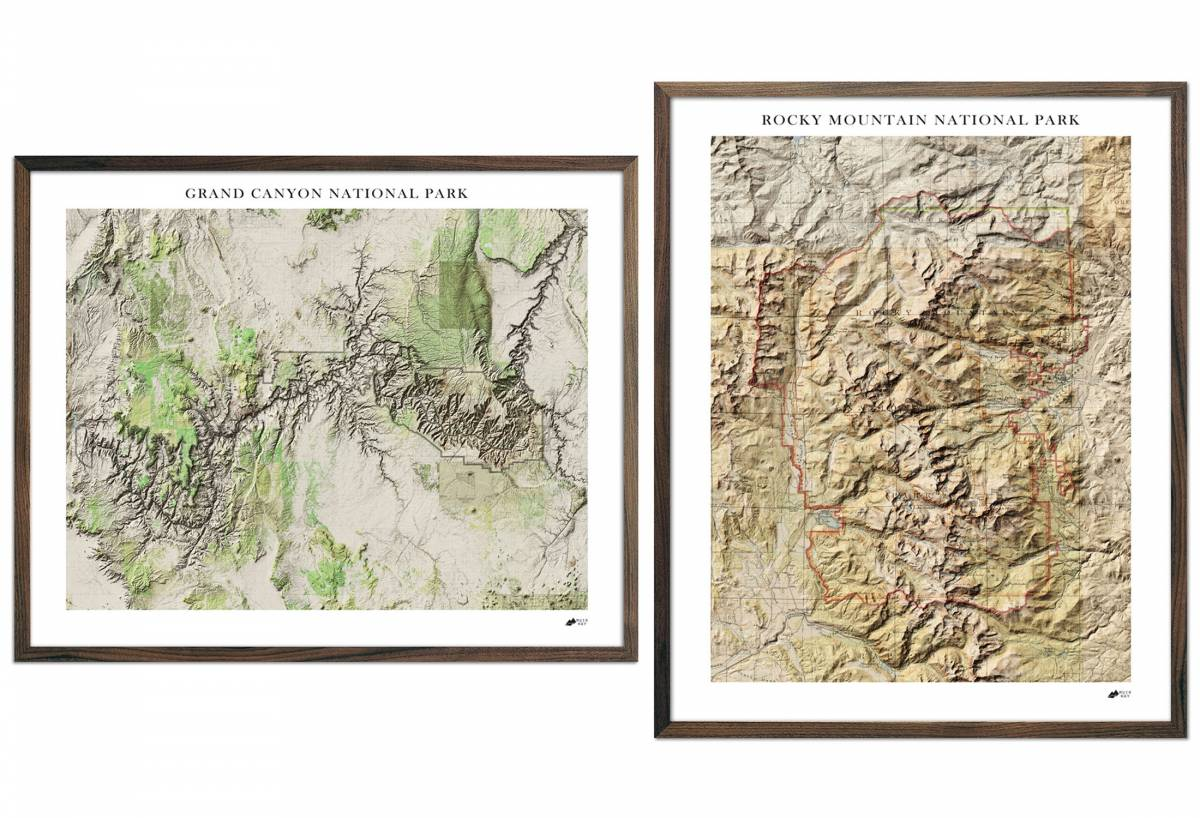 Relief Series Maps