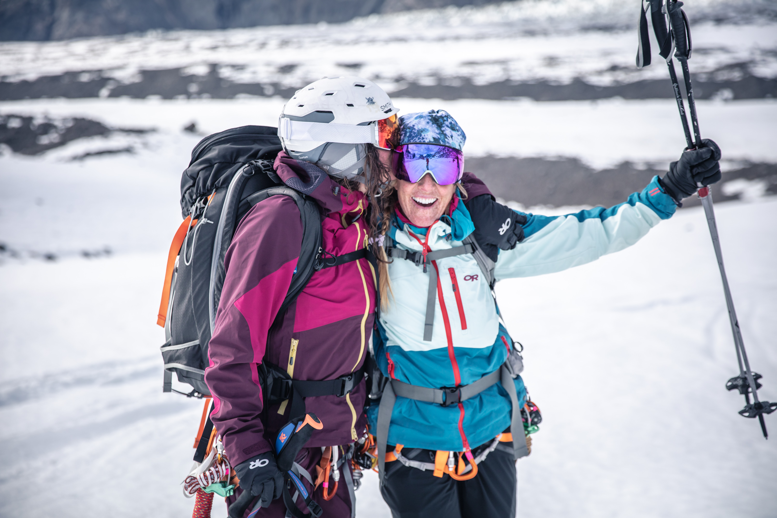 two Outdoor Research skiers in Greenland
