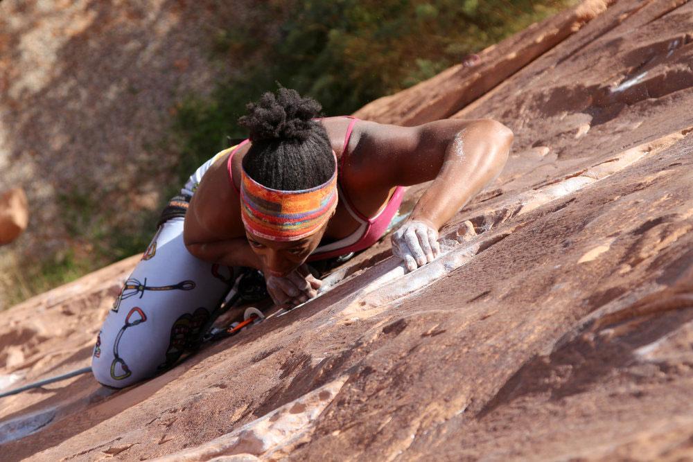 Crusher Climbing woman