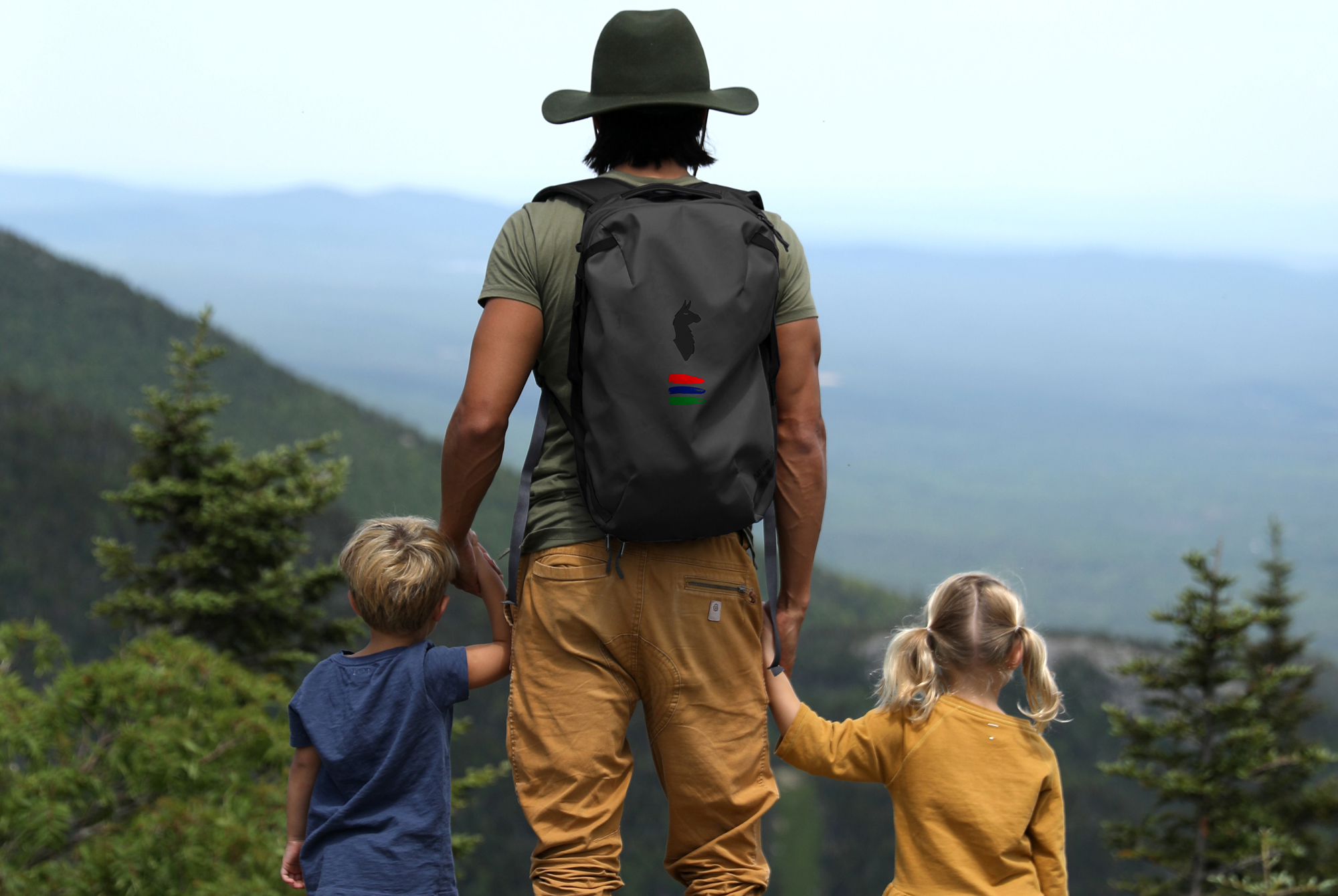 Man Hiking with Kids Father's Day