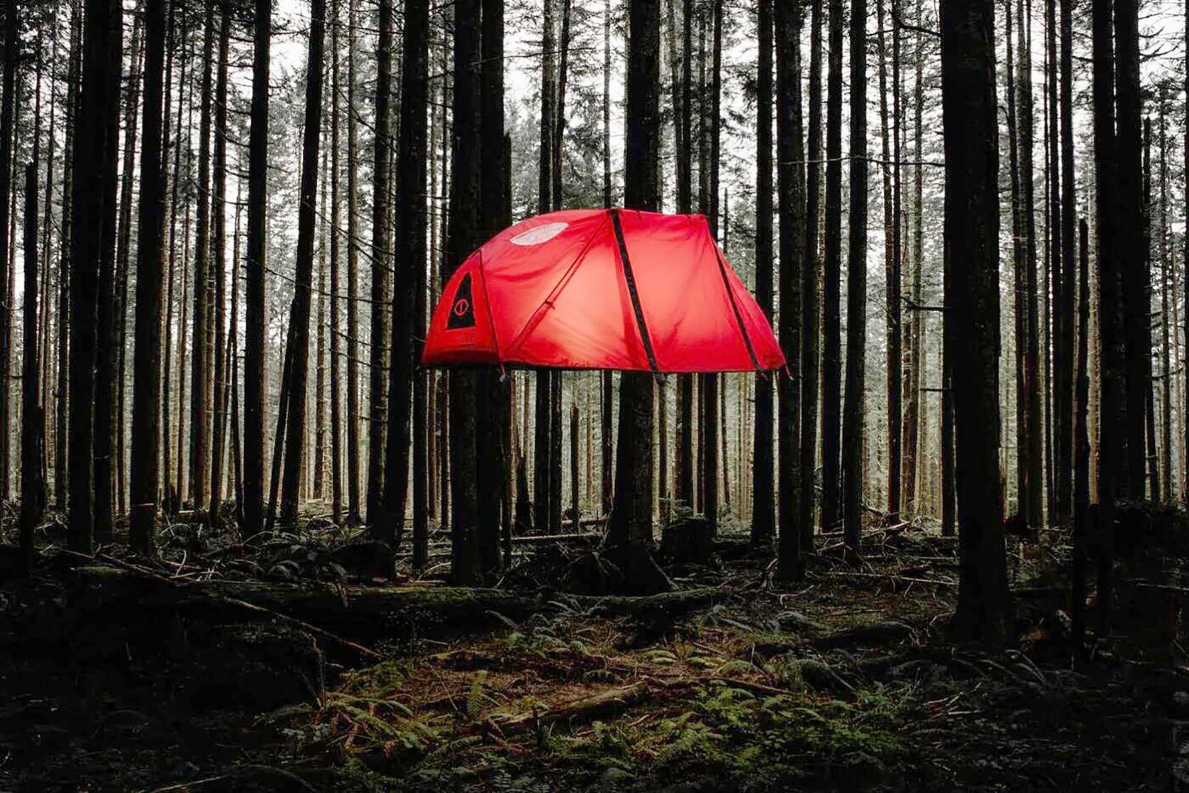 Poler floating tent