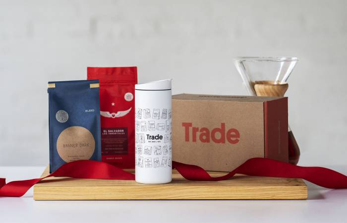 Trade Coffee Subscription Box Tumbler Holiday Gift