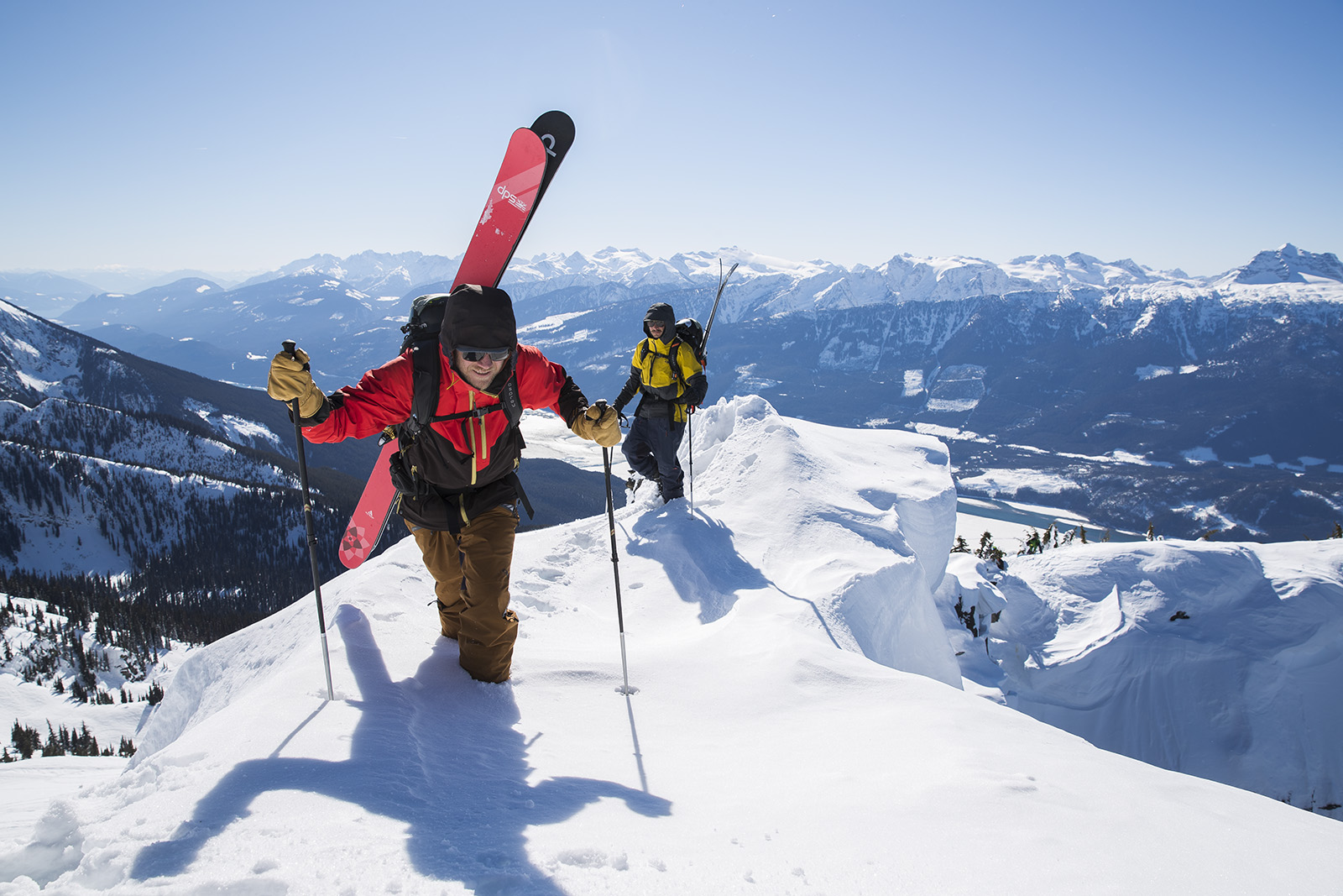 Outdoor Research skiers Revelstoke