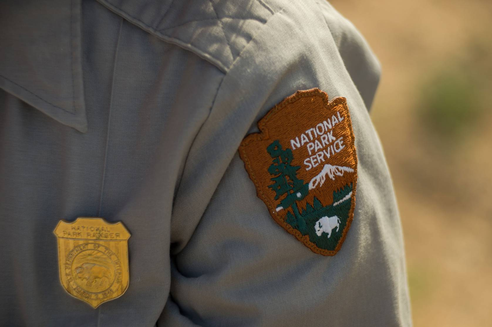 National Park Service ranger badge