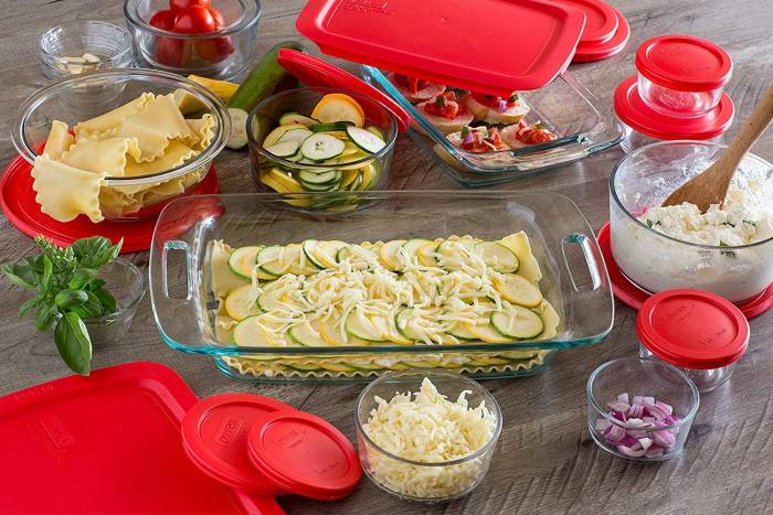 Pyrex Bakeware Set With Lids