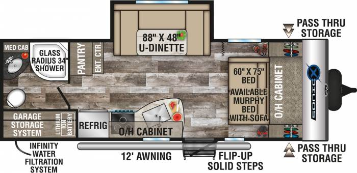 2020-Venture-RV-Sonic-X-SN220VRBX-Travel-Trailer-Floorplan