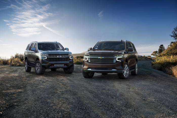 2021 Chevrolet Tahoe Z71 and Suburban HighCountry