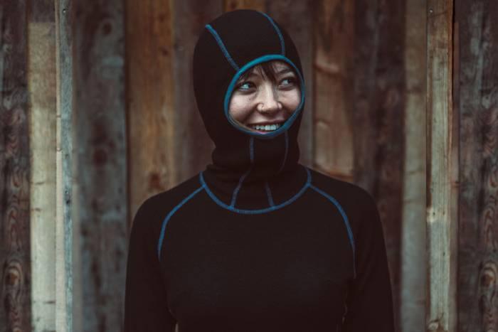 Beringia women's merino wool Diomede Snorkel Hoody