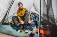 Darn Tough Socks Camping Gear in Tent
