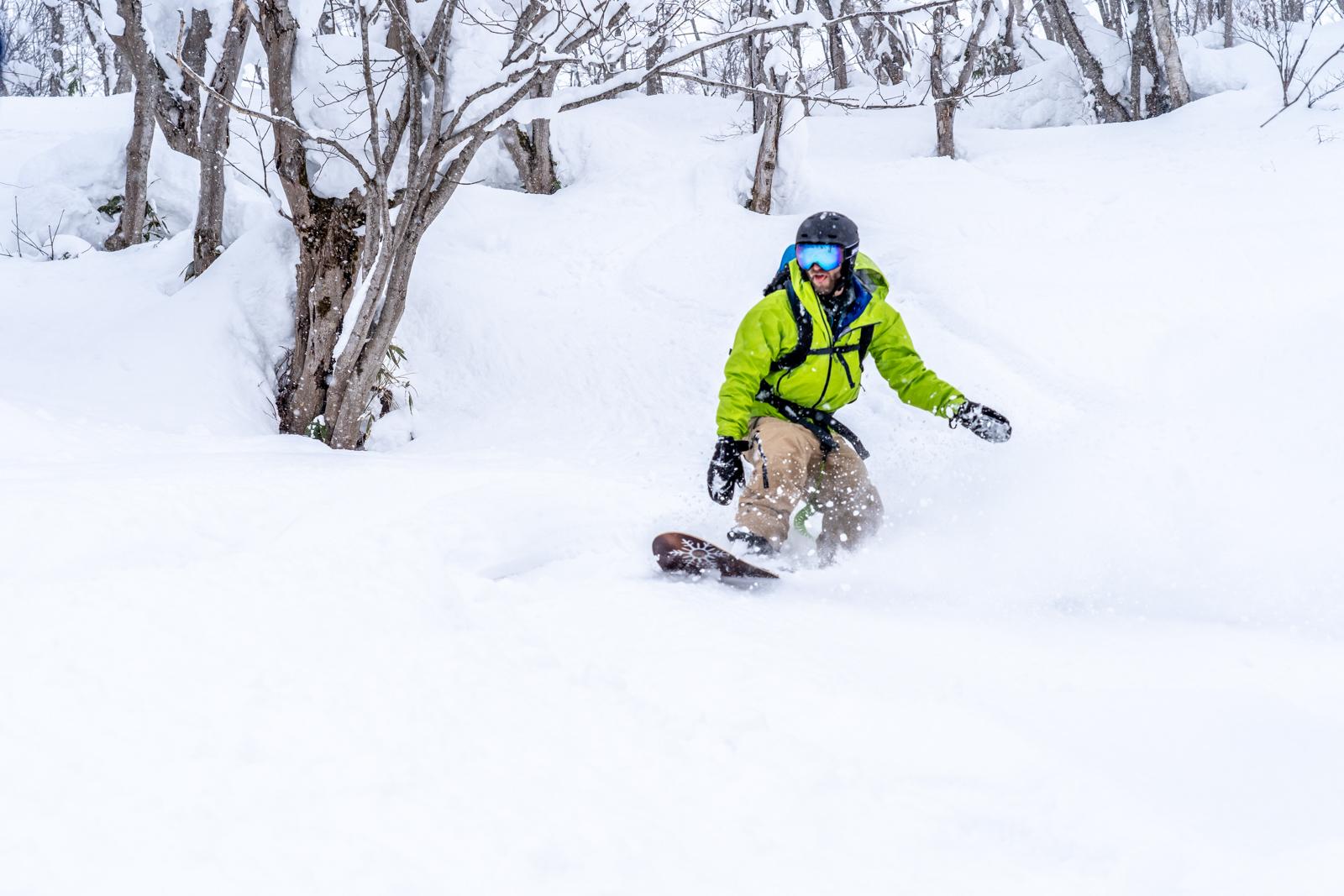 Snowboarding Anon M4 Goggles Echo Helmet