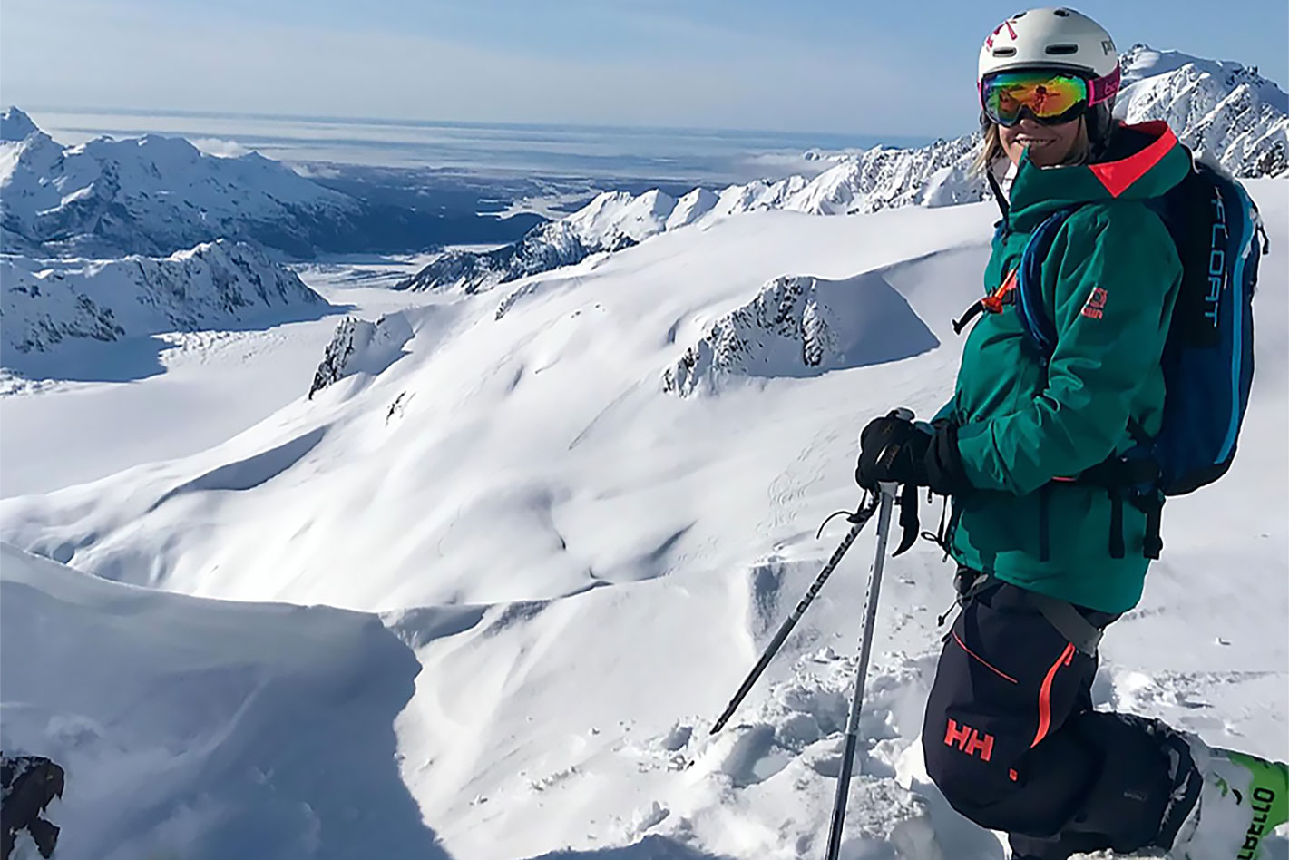 Backcountry skier Jessica Quinn