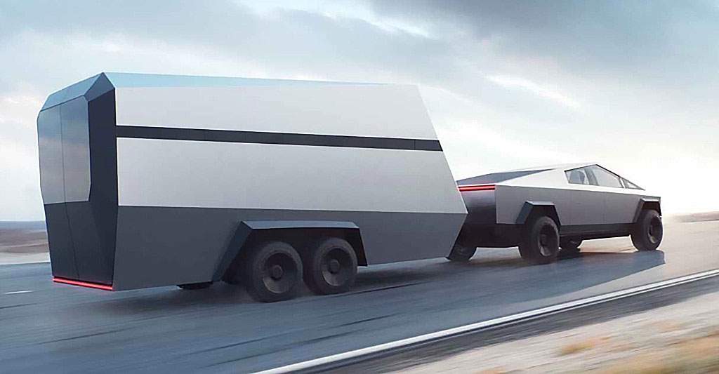 Cybertruck Tesla trailer