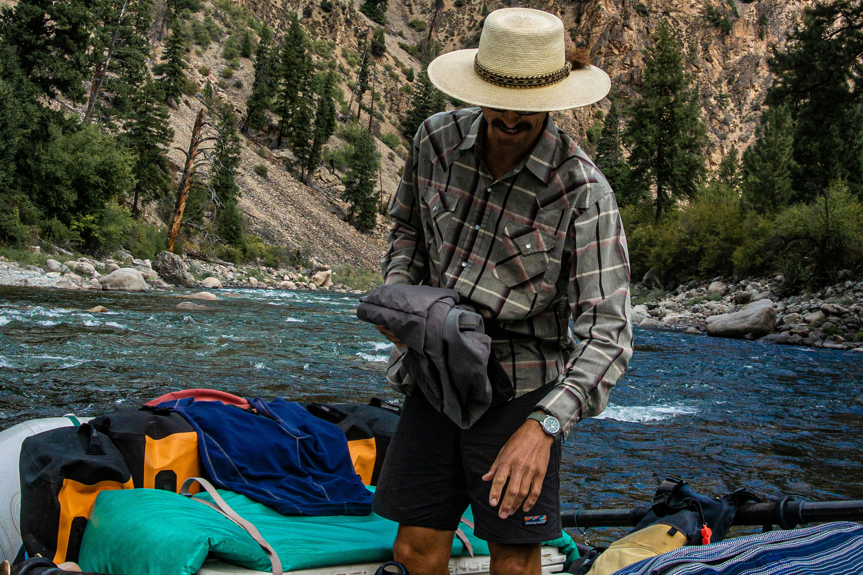 River raft guide clothes outfit