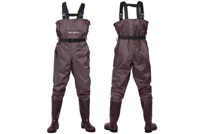 Dark Lightning Waders With Boots