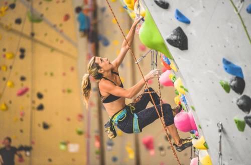 climbing at Movement