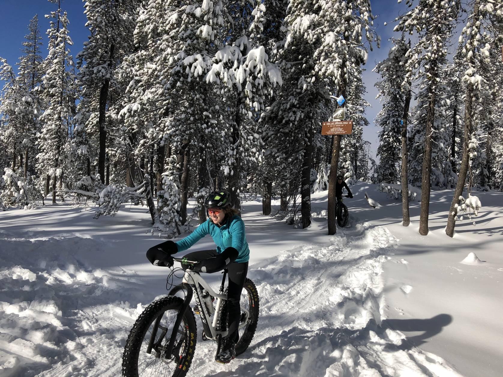 Fat Bike Riding in snowy Bend, Oregon