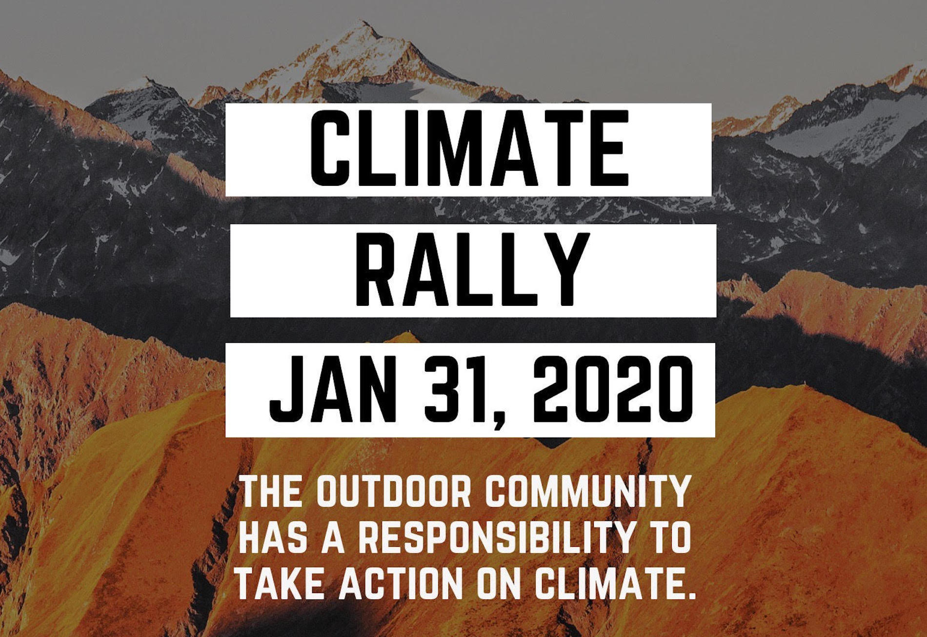 Climate Rally poster