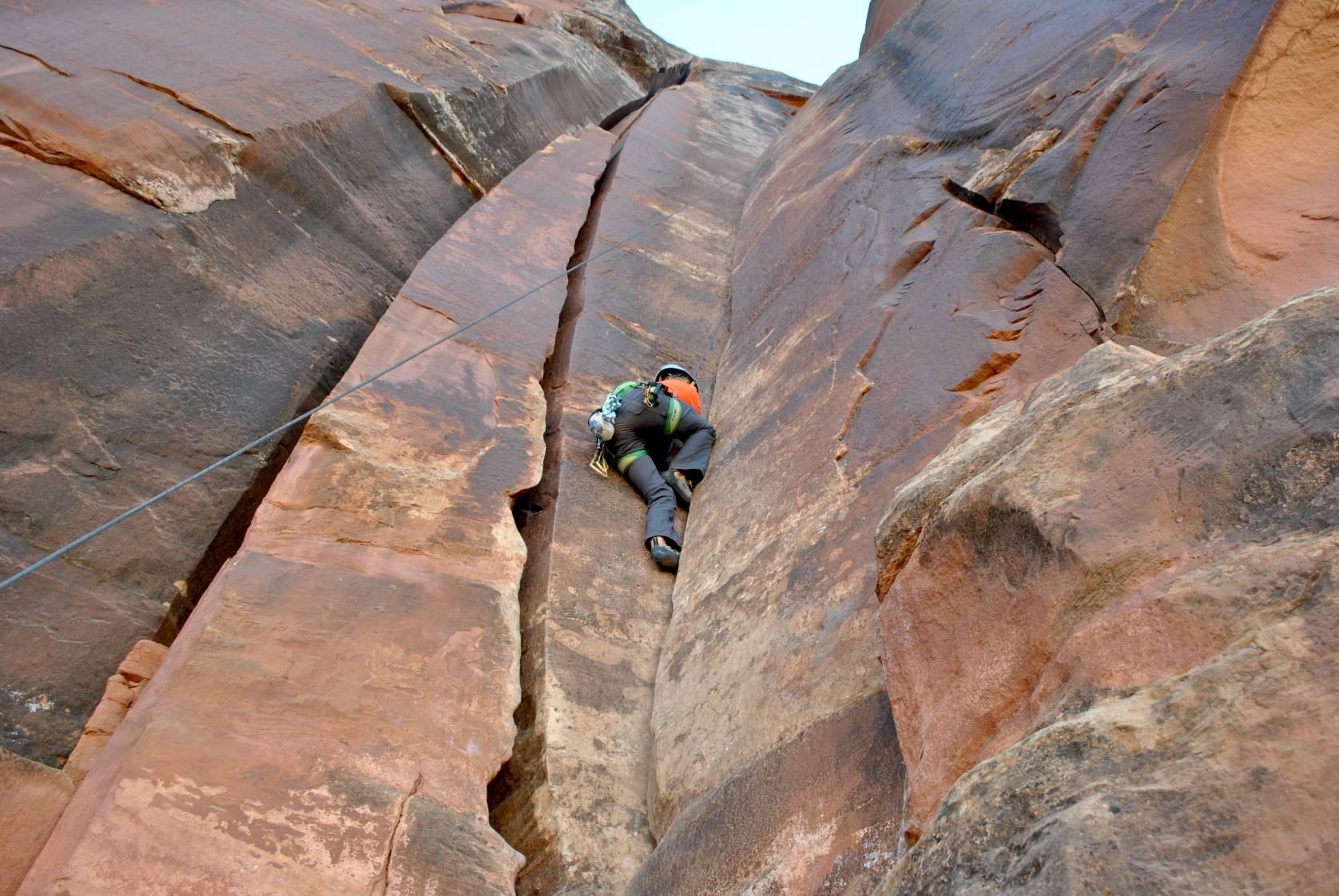 Mary climbing