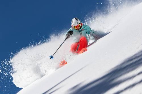 Hard-charging skier