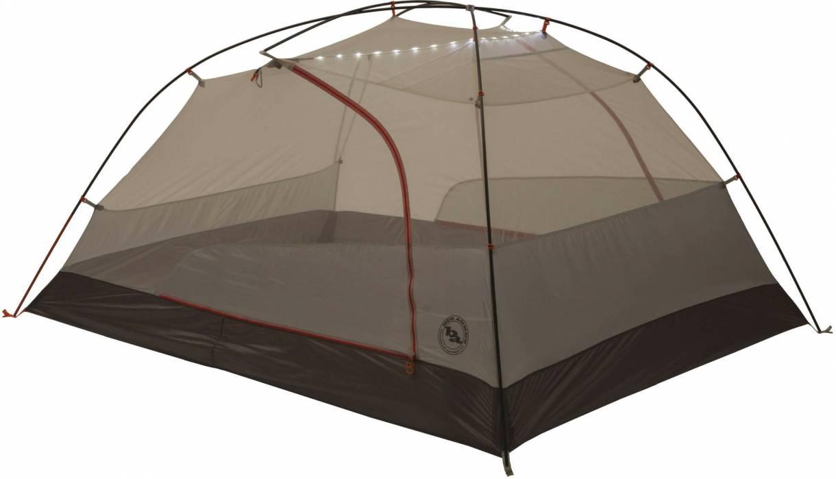 Big Agnes Copper Spur HV UL mtnGLO TentAgnes-Copper-Spur HV UL mtnGLO-Tent with lights